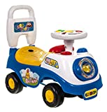 Hillington My First Ride On and Push Along Buggy Car Colourful First Steps Toddler Walker Learning Toy with Sounds and Accessories (BLUE)