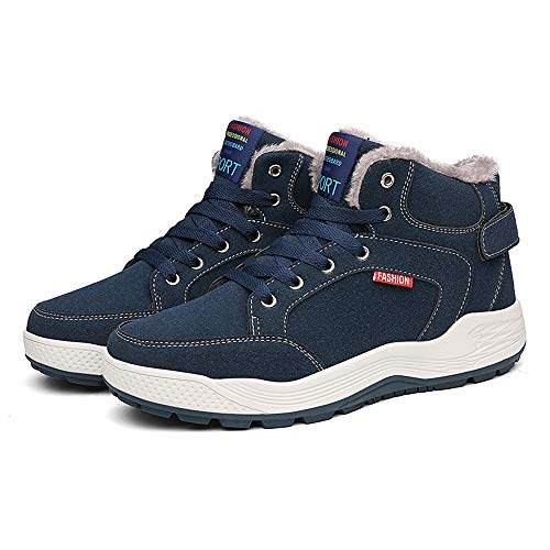 SITAILE Mens Snow Boots Winter Fur Lined Warm Shoes Waterproof Outdoor High Top Sneakers by SITAILE (Image #3)'