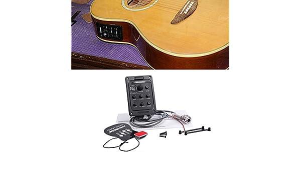 Tamlltide Fishman - Afinador de guitarra acústica, ecualizador ecualizador, 4 bandas, color negro: Amazon.es: Bricolaje y herramientas