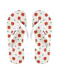 Aerusi Womens Unique Playful Design Flip Flops