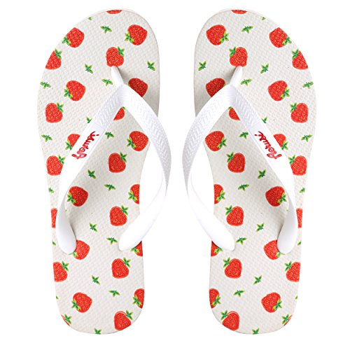 Flop Flip Design Aerusi Strawberry Womens Unique Sandals Playful Unique Aerusi npHwnqaF