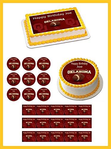 Oklahoma Sooners University - Edible Cupcake Toppers - 2