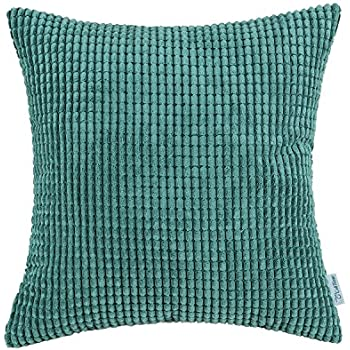 amazoncom 16quot x 16quot solid aqua teal throw pillow cover
