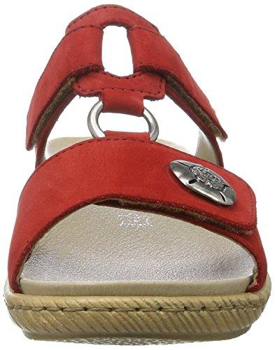 Rieker Kinder Gina K9255-25 - Zuecos para niños Rojo (Fire / 33)