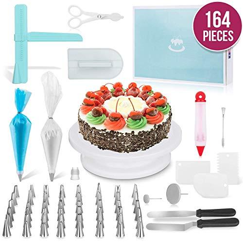 JHKJ 164 -Piece Cake Turntable Set Baking Tool DIY Tool Cake Decorating Kit Supplies by JHKJ (Image #6)