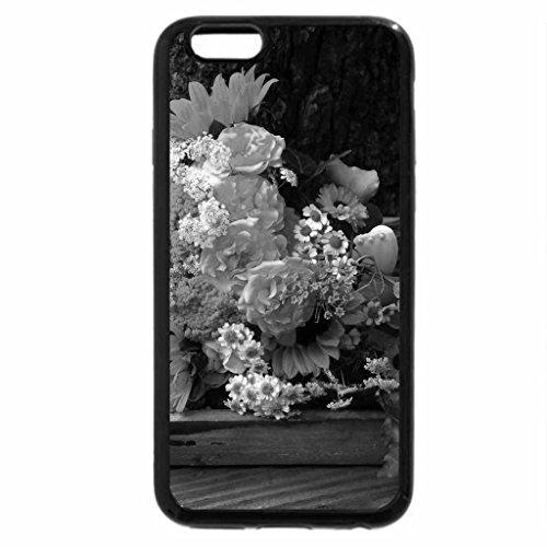 iPhone 6S Plus Case, iPhone 6 Plus Case (Black & White) - Burst of Sunshine Bouquet