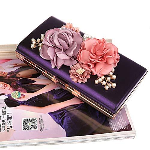 Fiori purple E Gshe Le Borsa Sera Frizioni La Bag A Delle Nozze Per Partito Delle Della Frizioni Borsa Catena Cinghia Borse Del Di Con Della Black Da Per Cinturino Frizioni Donne xYwpAYrq