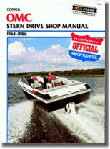 (UB730 Used Clymer OMC 1964-1986 Stern Drive Boat Repair Manual)