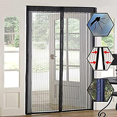 Magic Curtain Door Mesh Magnetic Fastening Hands Free Fly Bug Insect Screen from BNYD