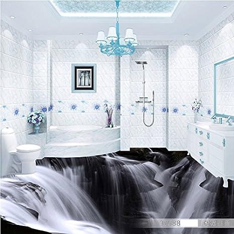 Malilove Atmospharische Waterfall 3d Wohnzimmer Badezimmer Pvc Boden Selbstklebende Schlafzimmer Studie Lobby Bodenbelage Wandgemalde