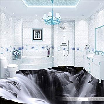 Malilove Atmosphärische Waterfall 3d Wohnzimmer Badezimmer Pvc Boden