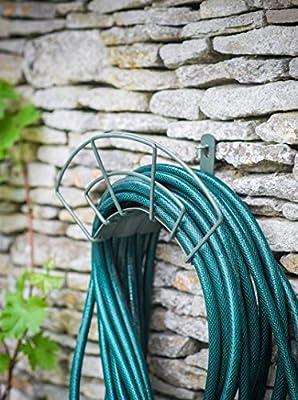 Soporte de pared de buena calidad para enrollar mangueras: Amazon.es: Jardín