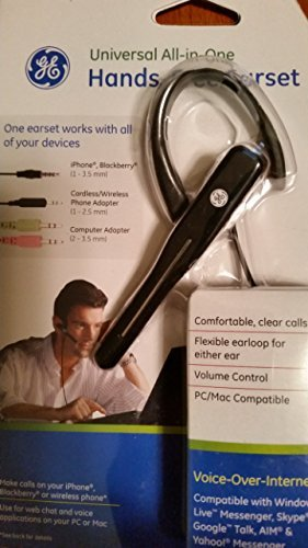Ge Universal All in One Hands Free Earset ()