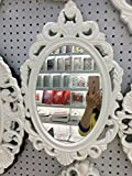 Unique French Style Wall Mounted Mirror, Shabby Chic, Elegant French Deco