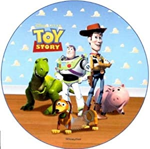 Toy Story Woody Buzz Dino Edible Rice Paper Round