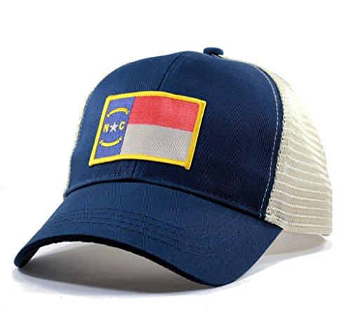 Homeland Tees Men's North Carolina Flag Patch Trucker Hat - Blue