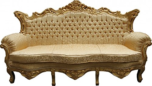 Casa Padrino Barock Sofa Master Gold Muster / Gold   Wohnzimmer Couch Möbel  Lounge