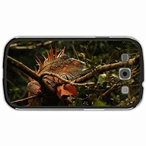 New Style Customized Back Cover Case For Samsung Galaxy S3 Hardshell Case, Black Back Cover Design Iguana Personalized Unique Case For Samsung S3