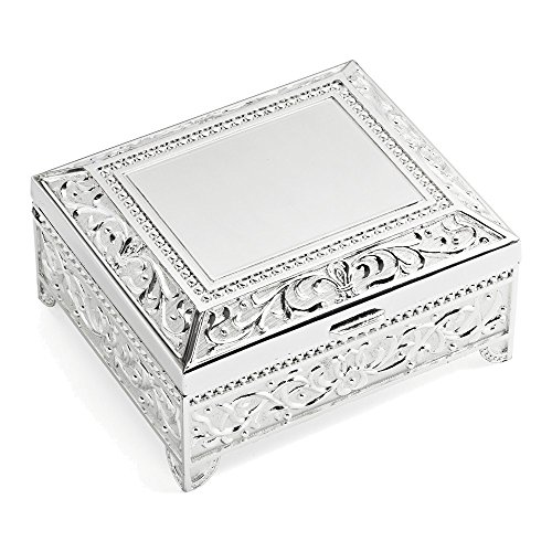 Silver-plated Floral Jewelry Box