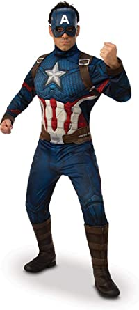 Amazon Com Rubie S Deluxe Captain America Marvel Avengers Endgame Costume Outfit Clothing Carol danvers has worn several costumes over the years as both ms. rubie s deluxe captain america marvel avengers endgame costume outfit