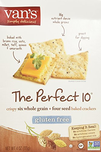 Van's The Perfect 10 Crackers, 4 Ounce Box (Pack of 2)