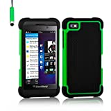 32nd Shock proof defender heavy duty tough case cover for Blackberry Z10 - Green