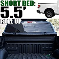 Topline Autopart Roll Roll-Up Soft Truck Bed Topper Cap...