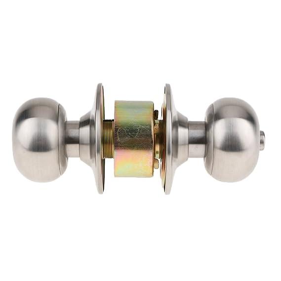 IPOTCH Cerradura de Puerta Perillas Cilíndricas Seguridad Doméstica con 3 Llaves - A: Amazon.es: Bricolaje y herramientas