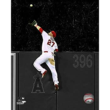 MLB Mike Trout Los Angeles Angels 2015 Action Photo Size: 8 x 10