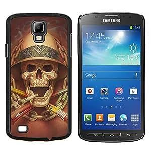 LECELL--Funda protectora / Cubierta / Piel For Samsung Galaxy S4 Active i9295 -- Muerte Explorador Cráneo que fuma Safari --