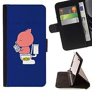 For Sony Xperia Z3 Compact / Z3 Mini (Not Z3) Case , La historieta divertida Azul Rosa minimalista- la tarjeta de Crédito Slots PU Funda de cuero Monedero caso cubierta de piel