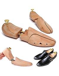 Pro-Noke Wooden Shoe Tree Stretcher Adjustable Length Wrinkle-Resistant Shoes Stretcher Boot Holder for Men and Women