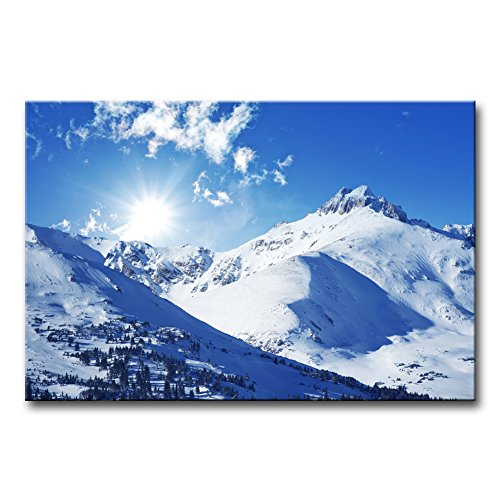 Wall Art Decor Poster Painting On Canvas Print Pictures Sunny Winter Rocky Mountains Landscape in Colorado United States Landscape Jokul Framed Picture for Home Decoration Living Room Artwork