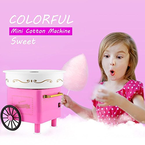 Rapesee Cute Casual Cotton Candy Machine, Stainless Steel Safe Electric Commercial Candy Floss Maker for Family Party … by Rapesee (Image #1)