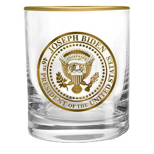 46TH PRESIDENTIAL SEAL WHISKEY GLASS   Heavy Weighted Base 13oz Liquor / Rock Glass   MADE IN USA COLLECTORS EDITION…