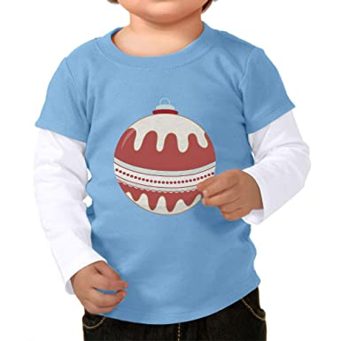 0c338bc19b7b Amazon.com  Waves Ornament White Maroon Boys-Girls Cotton Long Sleeve  Twofer Shirt  Clothing