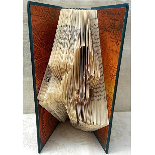 Hand Folded Book Art Sculpture for Reptile Lover, Gecko Lizard, Southwest Decor Housewarming Gift ()