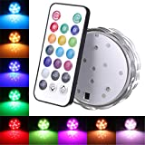 KINGSO 1 PCS Colorful Reusable Submersible Lights Waterproof Wireless With Remote Control Perfect for Party Wedding Christmas Bar Ball