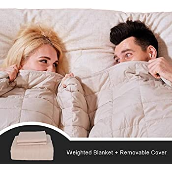 CJXM King Size Weighted Blanket & Cover (15 lbs,82