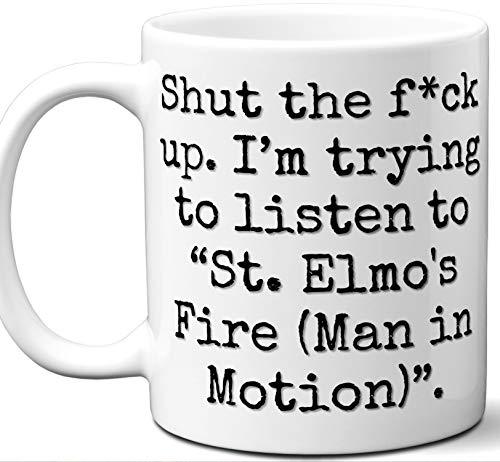 St. Elmo's Fire (Man in Motion) Song Gift Mug. Funny Parody Lover Fan
