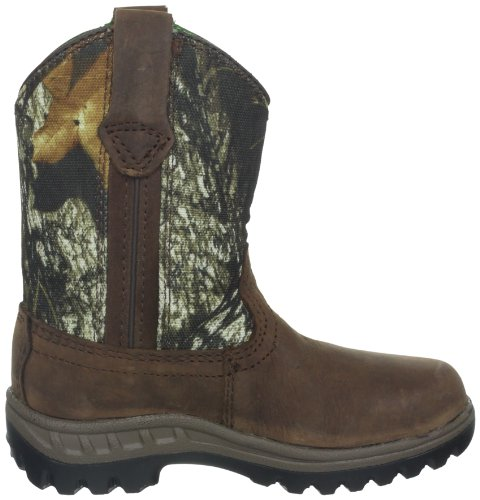 John Deere 2468 Western Boot (Toddler/Little Kid),Coffee/Camouflage/Waterproof,13 M US Little Kid