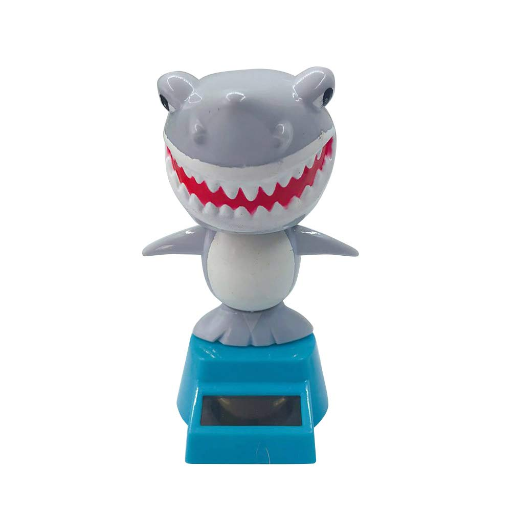Kalaokei Interno Auto Solar Swing Cartoon Mini Carino squalo Auto cruscotto Decorazione Regalo Dark Gray