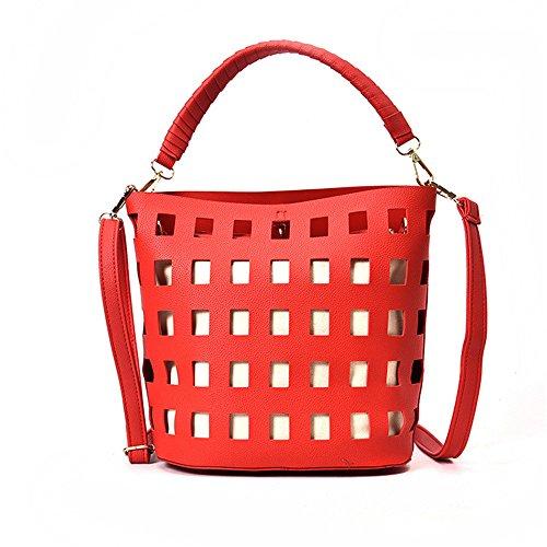 Hueco Retro Bolsos Verde Gules Satchel Personalidad Moda GWQGZ Match Bag Nueva nx1w70Paq8