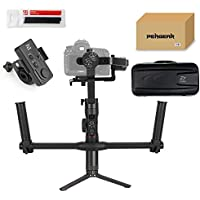 Zhiyun Crane 2 with Dual Handle Grip and Wireless Remote, Buy Crane-2 Get Free Servo Follow Focus, 7lb Payload OLED Display 18hrs Runtime 1Min Toolless Balance Adjustment for Camera Weighs 1.1 to 7lb