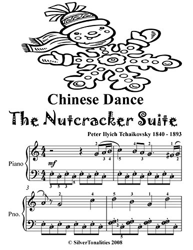Chinese Dance the Nutcracker Suite Easy Piano Sheet Music Tadpole ()