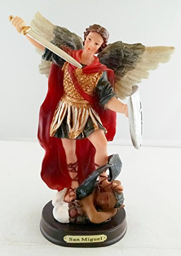 9 Inch Statue of Saint Michael the Archangel San Miguel Arcangel Angel Figurine