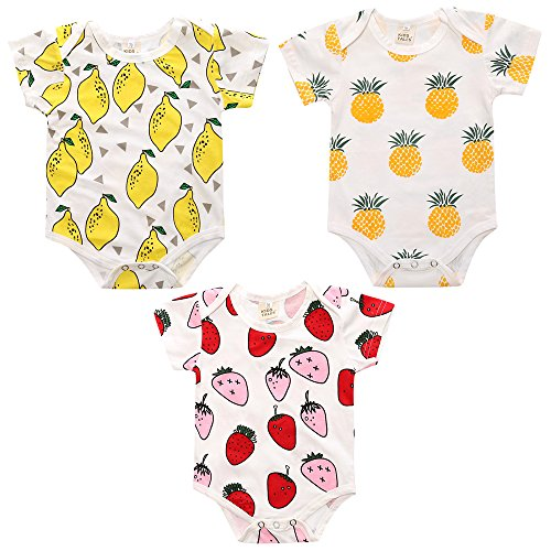 Baby Onesies Unisex Romper Cute Printed Jumpsuit Summer Outfits Little Bodysuit (12-18Months, 09) (Old 09 Body)