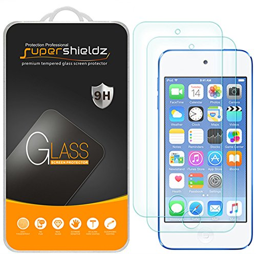 [2-Pack] Supershieldz for Apple New iPod Touch (7th Gen 2019 Released / 6th & 5th Generation) Tempered Glass Screen Protector, Anti-Scratch, Bubble Free, Lifetime Replacement (Ipod Touch Screen Cover)