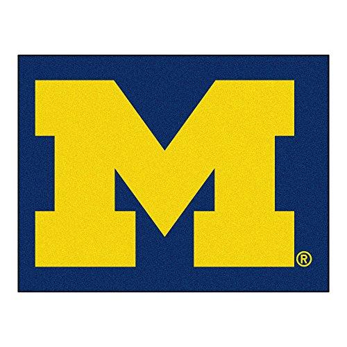 - University of Michigan Wolveines Logo Area Rug (All Star)