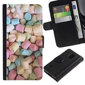 KingStore / Leather Etui en cuir / Samsung Galaxy S5 V SM-G900 / Colores del caramelo Dulces;